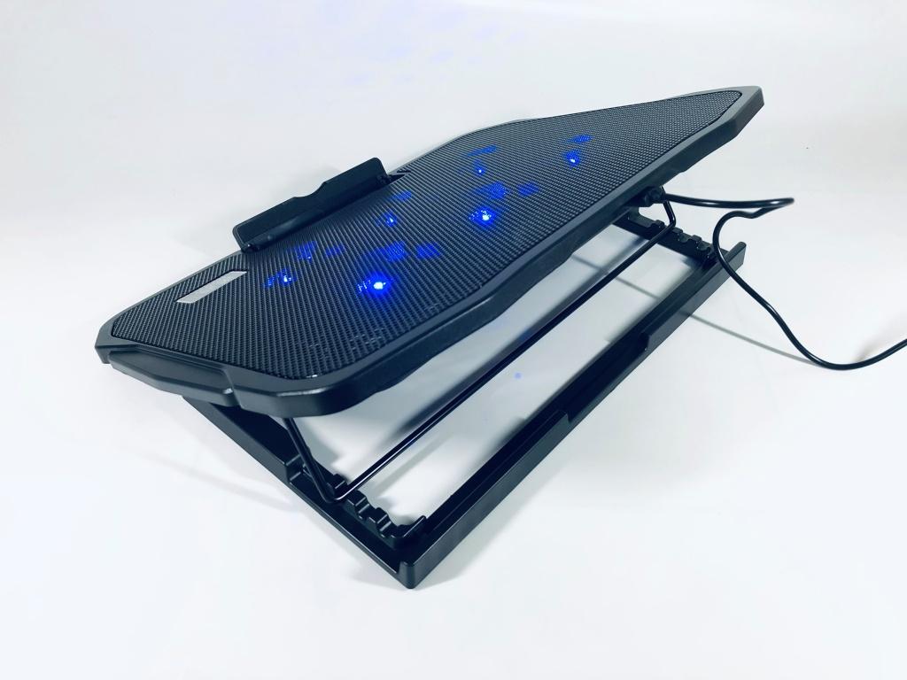 đế tản nhiệt laptop 6 quạt kèm giá đỡ