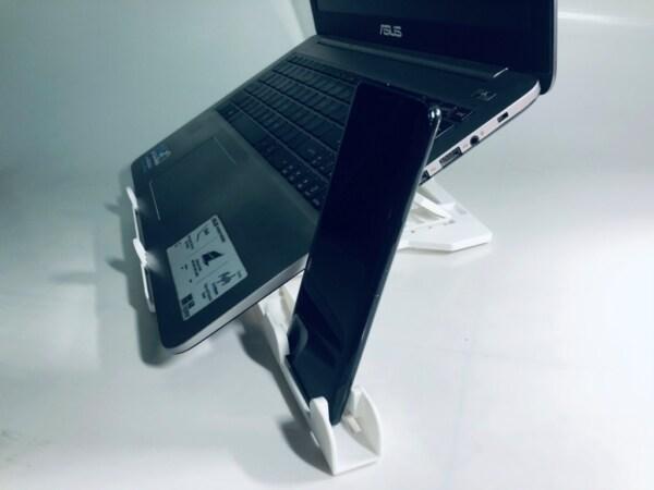 giá để laptop kèm điện thoại đa năng