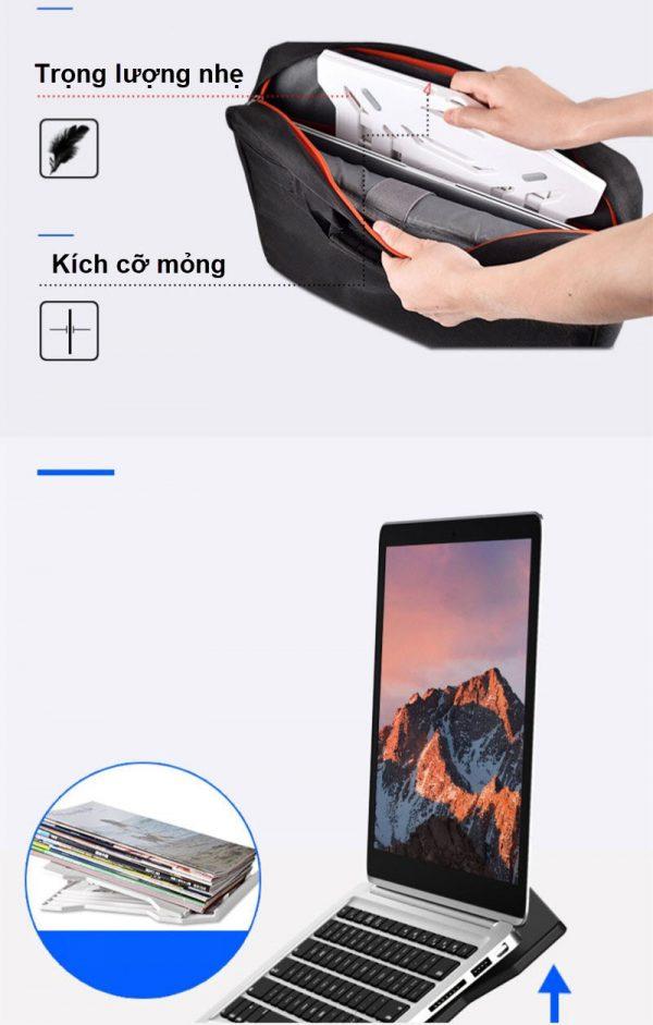 giá đỡ laptop kèm điện thoại Spalaptop