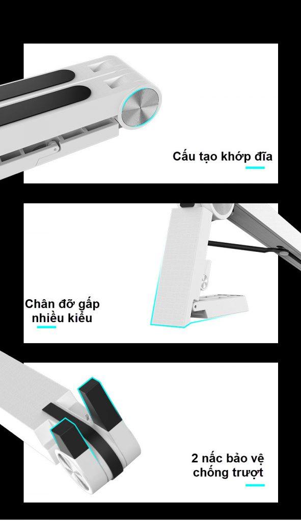 giá đỡ laptop t6 3 kiểu dáng