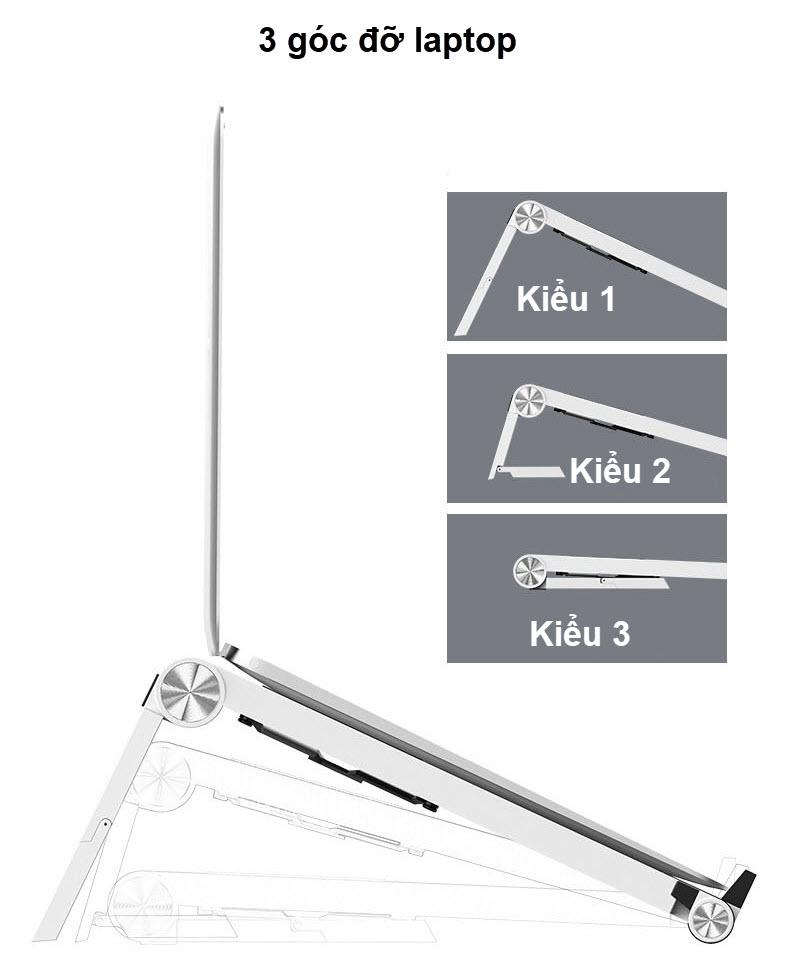 giá đỡ laptop t6 3 kiểu