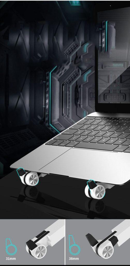 giá đỡ laptop t6 gấp gọn cao cấp