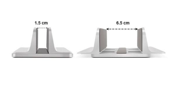 kích thước đế kẹp laptop