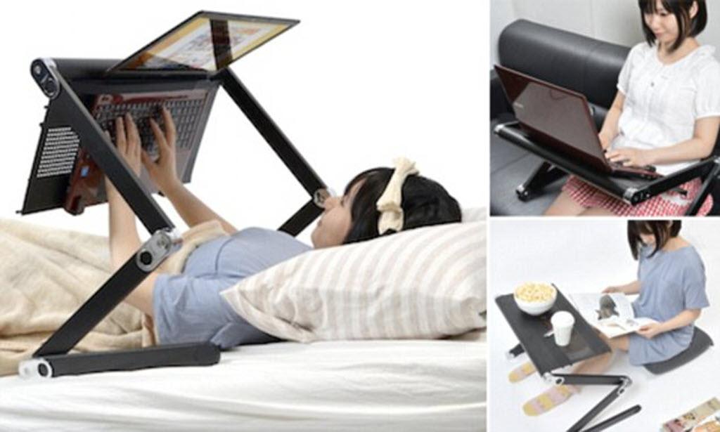 giá đỡ laptop khi nằm