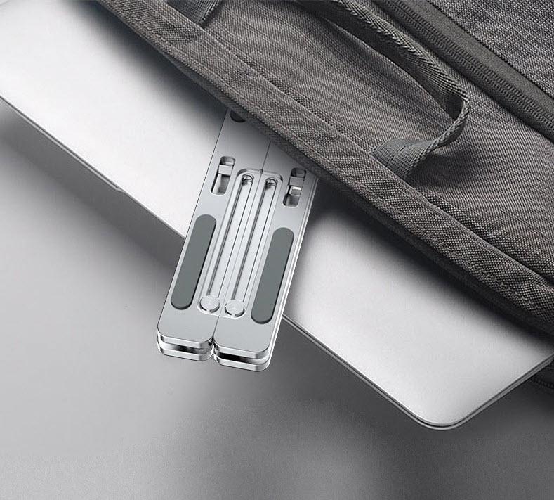 Giá đỡ laptop gấp gọn điều chỉnh 6 nấc hợp kim nhôm 10
