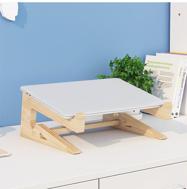 Giá đỡ laptop gỗ đa năng nguyên khối cao cấp tiện lợi 1