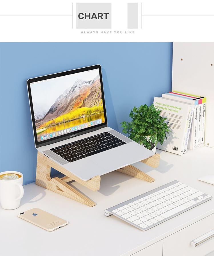 Giá đỡ laptop gỗ đa năng nguyên khối cao cấp tiện lợi 5