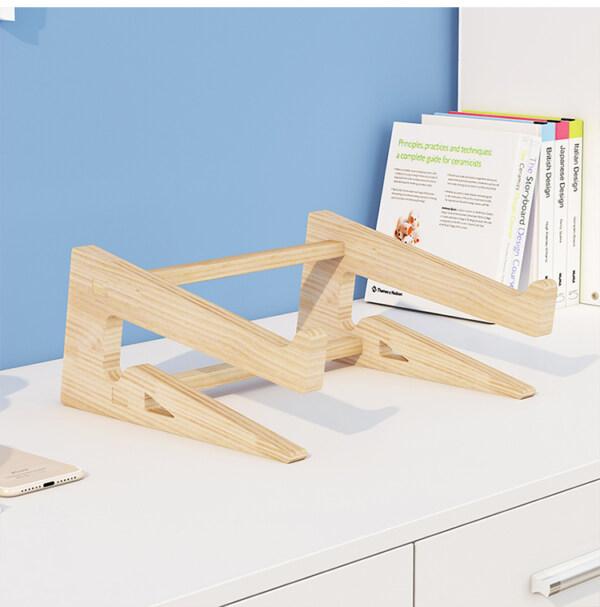 Giá đỡ laptop gỗ đa năng nguyên khối cao cấp tiện lợi