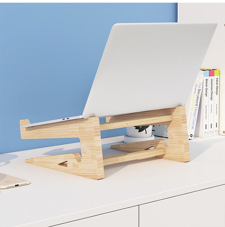 Giá đỡ laptop gỗ đa năng nguyên khối cao cấp tiện lợi 7