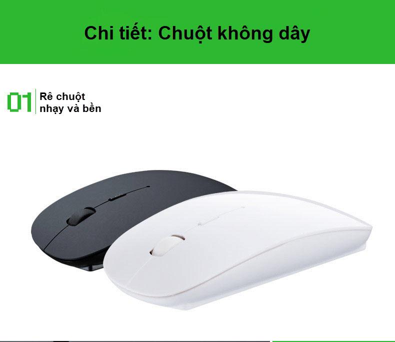 bộ bàn phím và chuột không dây 2