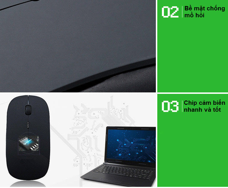 bộ bàn phím và chuột không dây 3