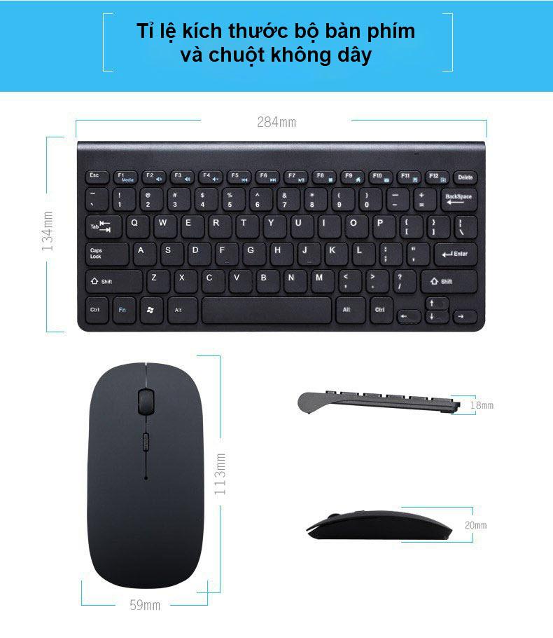 bộ bàn phím và chuột không dây 6