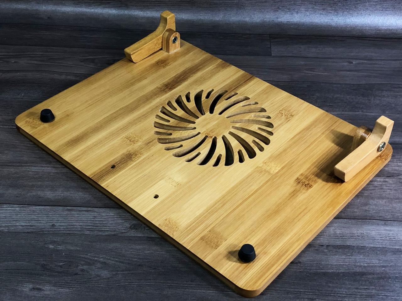 kệ kê laptop gỗ điều chỉnh