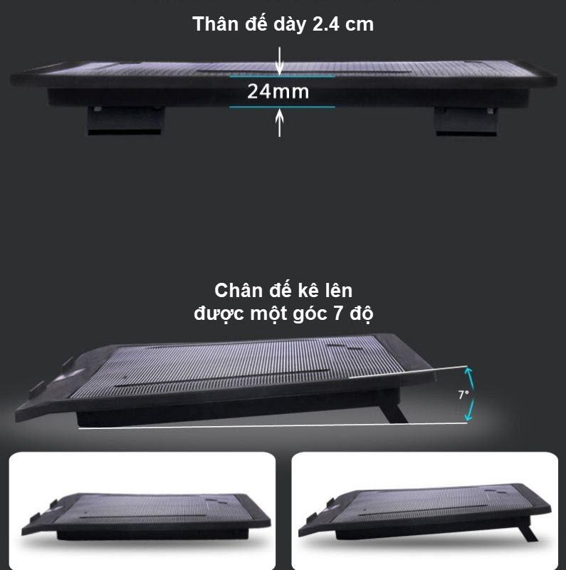 đế tản nhiệt laptop cánh quạt lớn n19 10