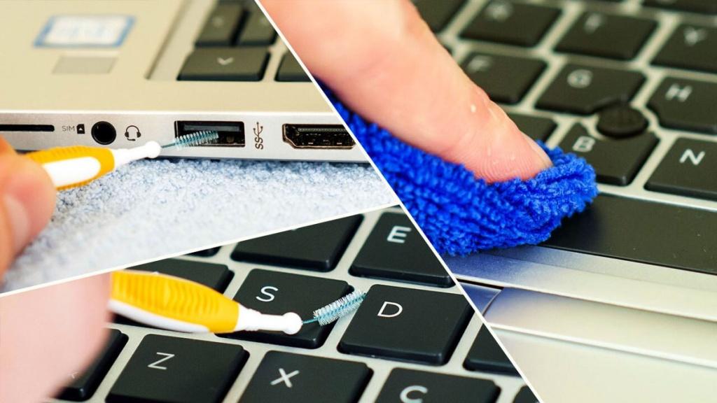 cách vệ sinh bàn phím laptop dell