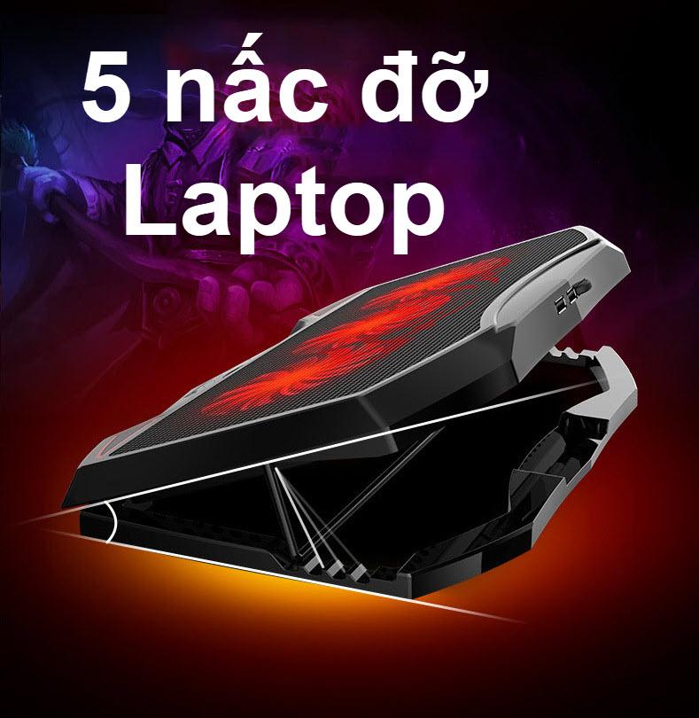 đế tản nhiệt laptop 3 quạt lớn 3