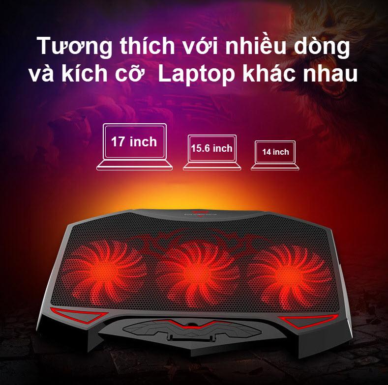 đế tản nhiệt laptop 3 quạt lớn 7
