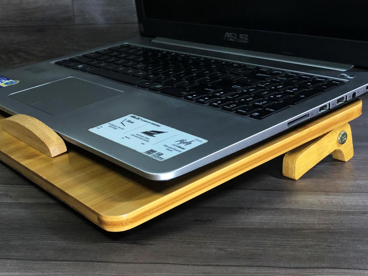 giá đỡ laptop gỗ điều chỉnh độ cao