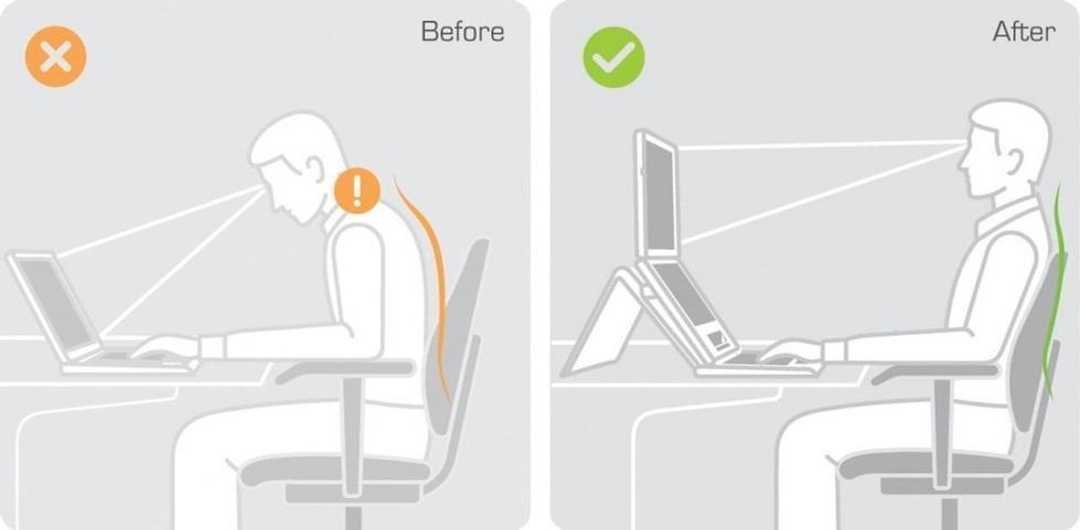 cải thiện tầm nhìn khi dùng giá đỡ laptop